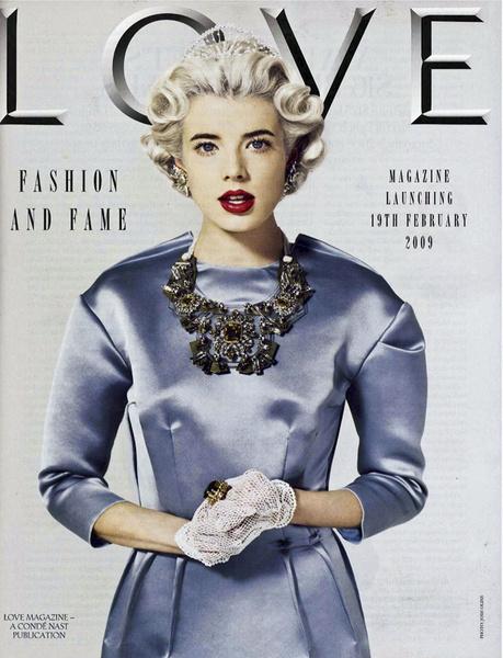 Одна из первых обложек журнала Love.