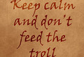 Не кормите троллей