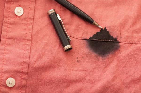 Вывести пятна от шариковой ручки