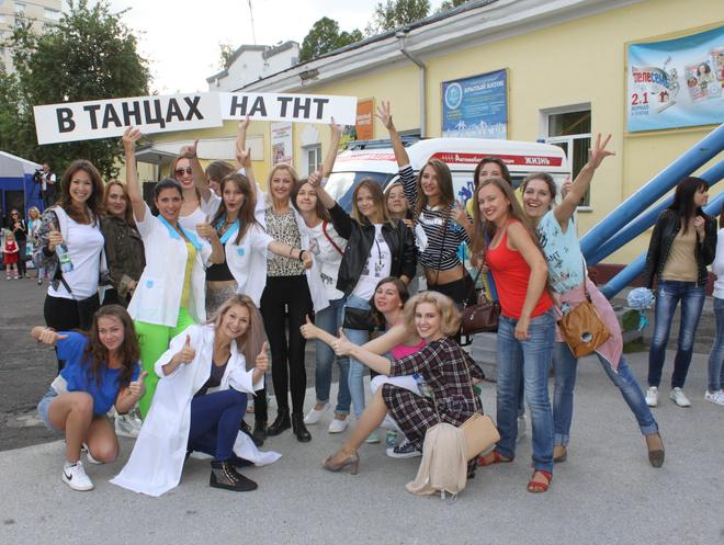 Танцевальный флешмоб в Новосибирске