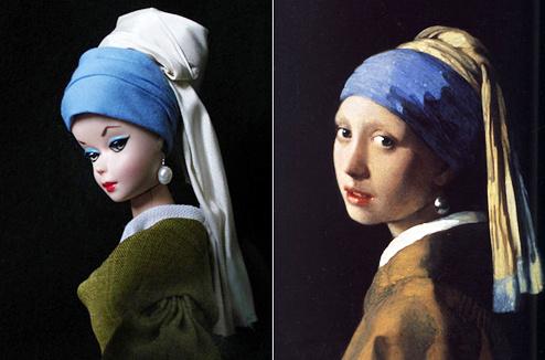 Барби «Девушка с жемчужной сережкой»