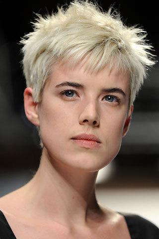 Модель 2007 года Агнесс Дейн может запросто сойти за мальчика, если постарается. В обычной жизни она выбирает достаточно яркий и, местами, экстремальный стиль в одежде, и короткая стрижка добавляет в него озорства.