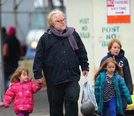Филипп Сеймур Хоффман с детьми
