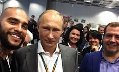 Тимати сделал селфи с Путиным и Медведевым