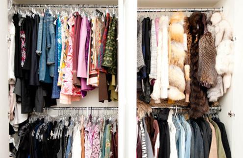 Рассортируйте одежду по трем типам: постоянно носите, часто носите и редко носите
