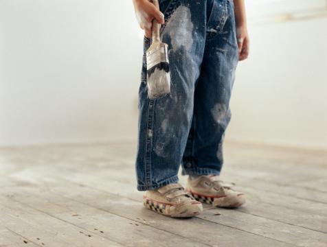 Оттереть краску с джинс