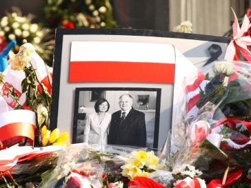 Лех Качиньский и его супруга Мария.