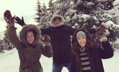 Идеальные выходные Собчак: будущая мама резвится на природе