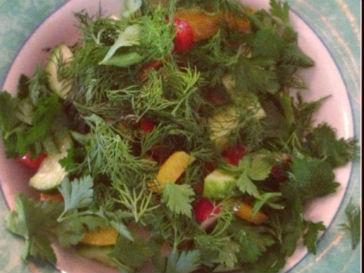 Обед Тины Канделаки состоит из овощного салата