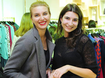 Ольга Карачевцева и Рената Харькова на шопинг-дне Elle в бутике DVF
