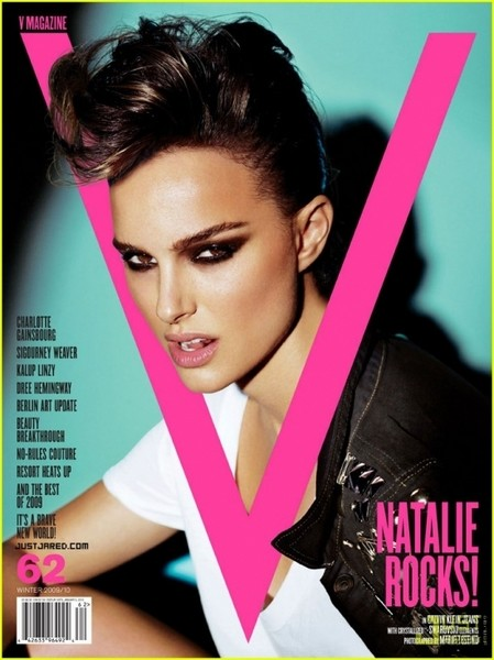 Natalie Rocks! С таким заголовком вышел журнал V с Натали Портман на обложке.