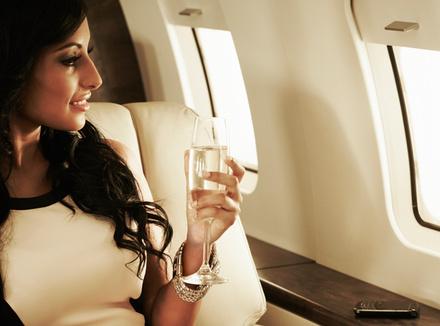 Женщина в самолете