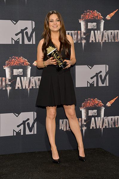 Беременная Мила Кунис на MTV Movie Awards 2014