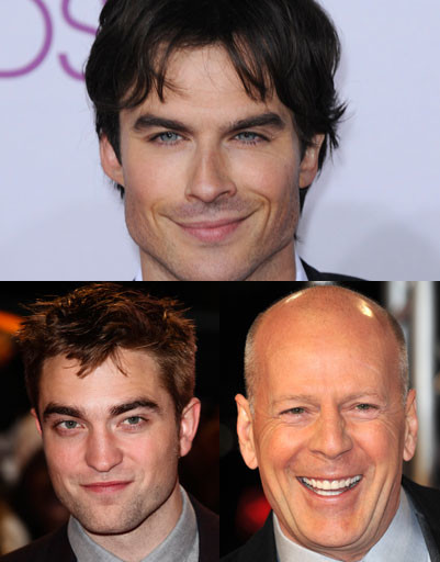 Иэн Сомерхолдер (Ian Somerholder), Роберт Паттинсон (Robert Pattinson), Брюс Уиллис (Bruce Willis)