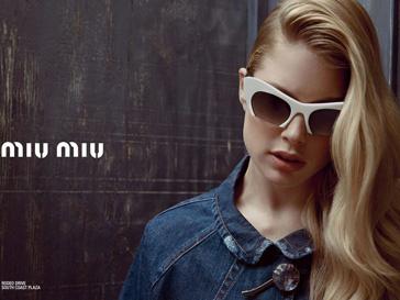 Даутцен Крез (Doutzen Kroes) в рекламной кампании Miu Miu сезона весна-лето 2013