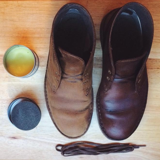 Чем покрасить обувь из кожи в домашних  823