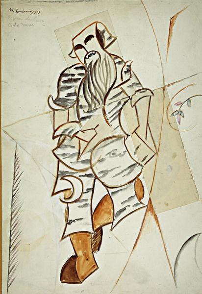 Михаил Ларионов «Леший». Эскиз костюма к балету «Русские сказки». 1916–1918.