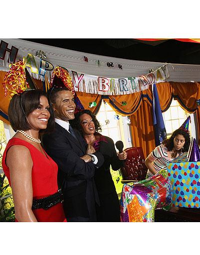 Фигуры Барака Обамы (Barack Obama) и Мишель Обамы (Michelle Obama)