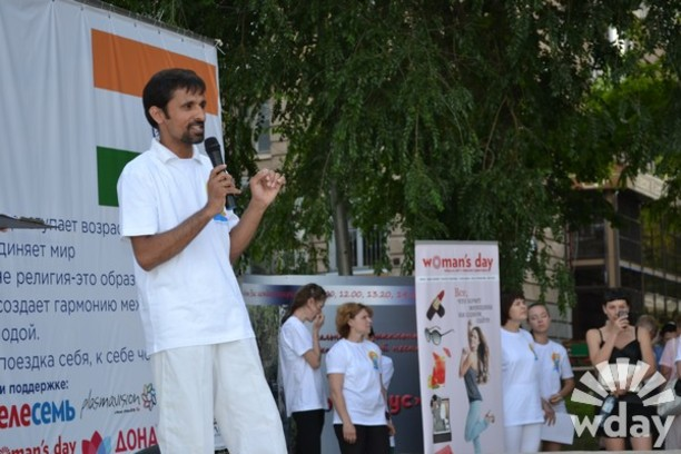 Йога Волгоград мастер-класс зарядка на набережной