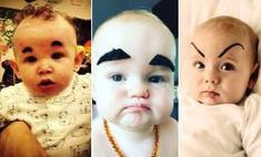 Модный тренд: бровастые младенцы покорили интернет