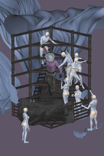 Би Флауерс привозит свои работы в Россию не в первый раз. В музеях уже демонстрировались его проекты «Мегаструктура» (фотографии спальных районов Москвы) и «Либирейшн» (работы, посвященные событиями в иракской тюрьме Абу-Грейб).