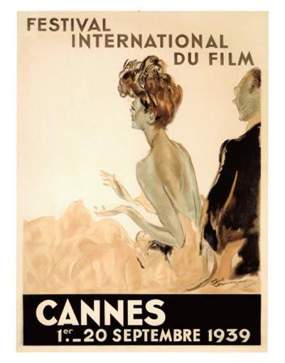 Первый постер Каннского кинофестиваля 1939 года