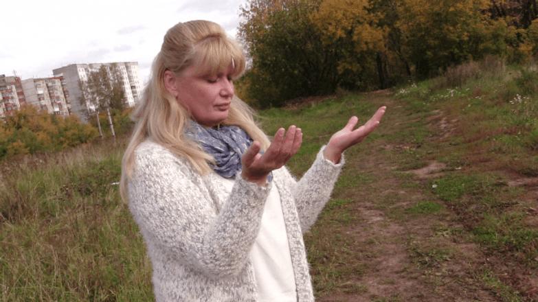 Альбина Селицкая на месте крушения