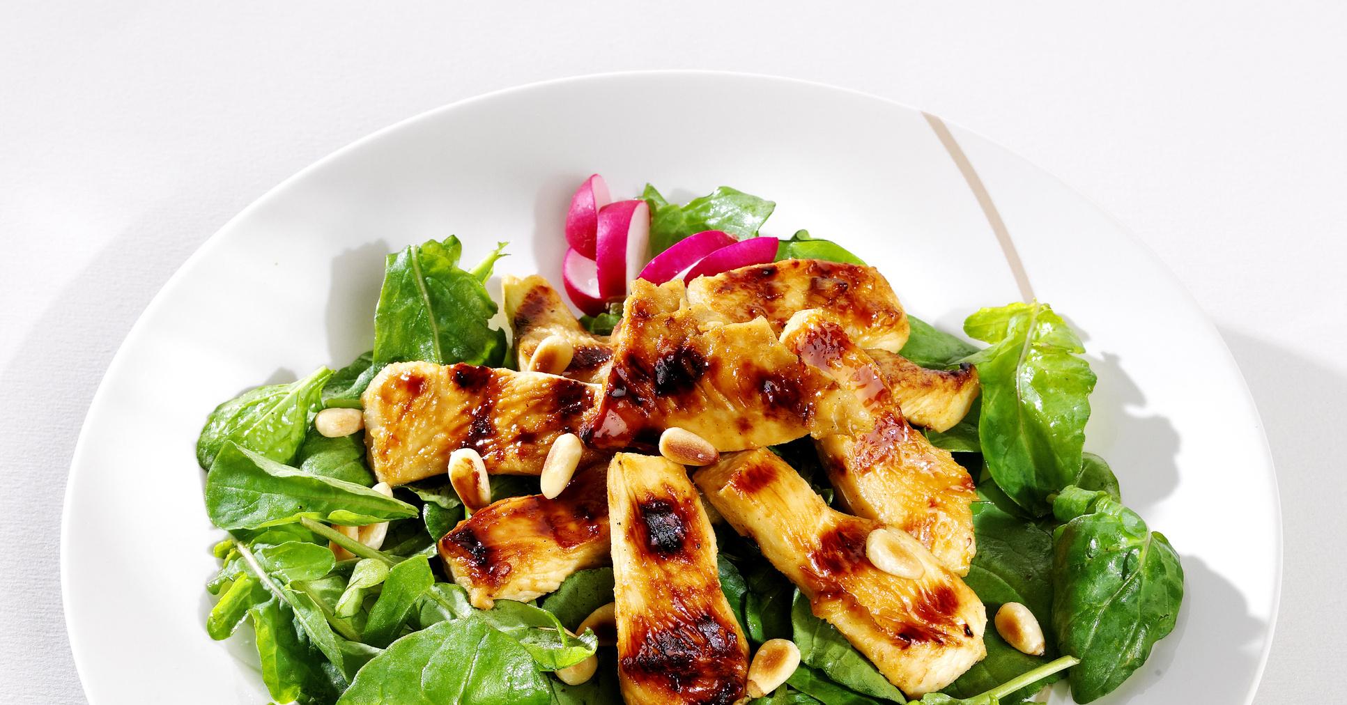 Рецепты салатов с кедровыми орешками