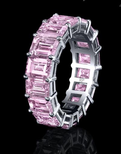 Кольцо с розовыми бриллиантами, Robert Prokop