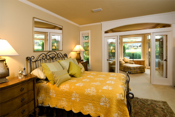 Дизайн золотой спальни