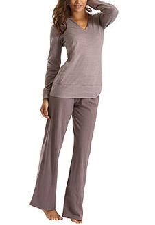 Домашние брюки с туникой с капюшоном