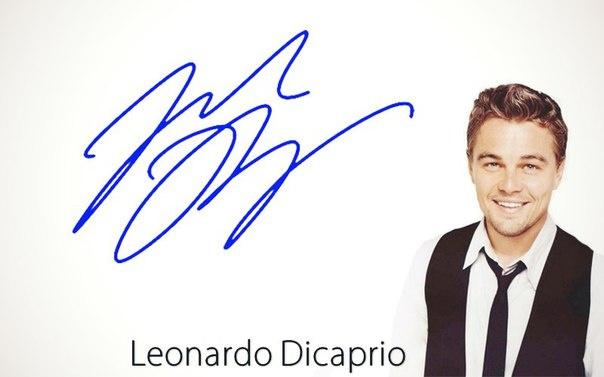 Автограф Леонардо Ди Каприо