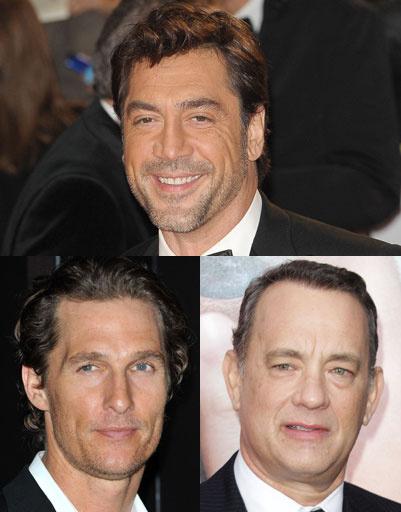 Хавьер Бардем (Javier Bardem), Мэттью Макконахи (Mattew McConachy), Том Хэнкс (Tom Hanks)