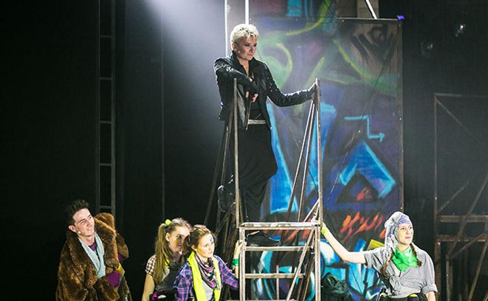 Диана Арбенина в спектакле «Поколение Маугли»
