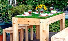 Мастер-класс: как сделать оригинальный стол-газон