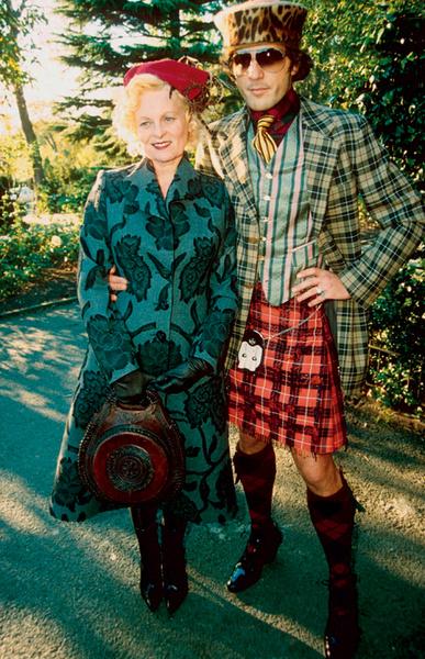 Вивьен Вествуд с мужем Андреасом Кронтхалером, 1999