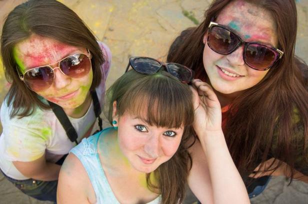 праздник холи, фоторепортаж, краски, магнитогорск