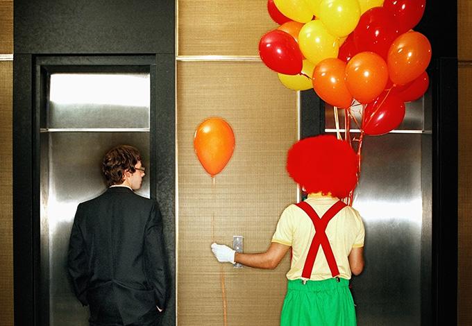 Клоун с шариками