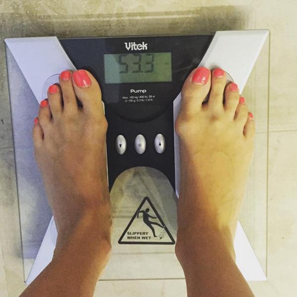 Наталья Подольская показала поклонникам свой вес