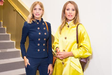 Елена Перминова и Ксения Собчак