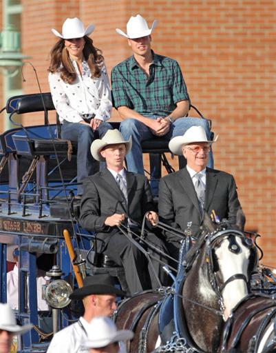 Кейт Миддлтон (Kate Middleton) и принц Уильям (prince William) по дороге на родео