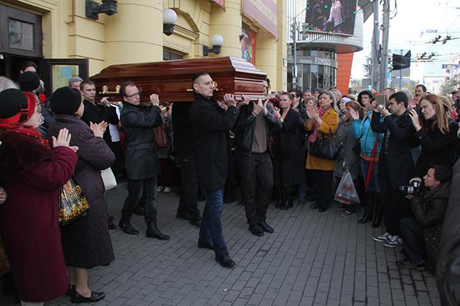 В Ростове-на-Дону простились с Олегом Поповым