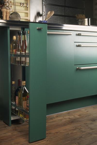 Кухня зеленого цвета, фото