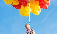 В Волгограде дети поднялись в небо на воздушных шарах