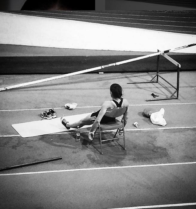 Елена Исинбаева готовится к олимпиаде