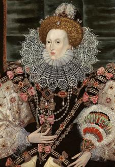 Копия портрета Елизаветы с картины «Возвращение Армады», ок. 1590 г. Неизвестный художник.