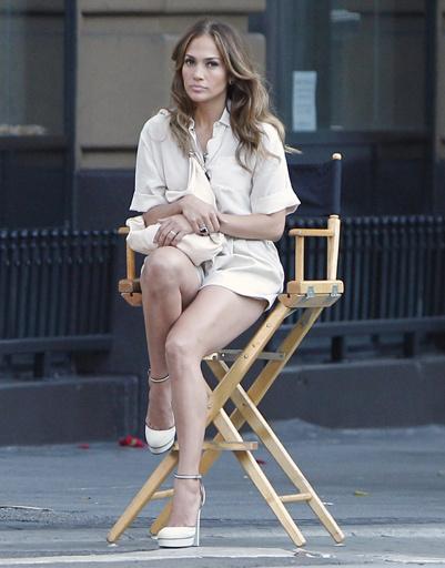 Дженнифер Лопес (Jennifer Lopez) на съемках романтической комедии.