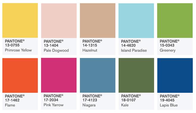 Самые модные цвета весны и лета 2017 года