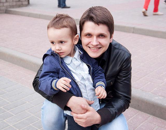 Григорий, Настя и их сын Ваня