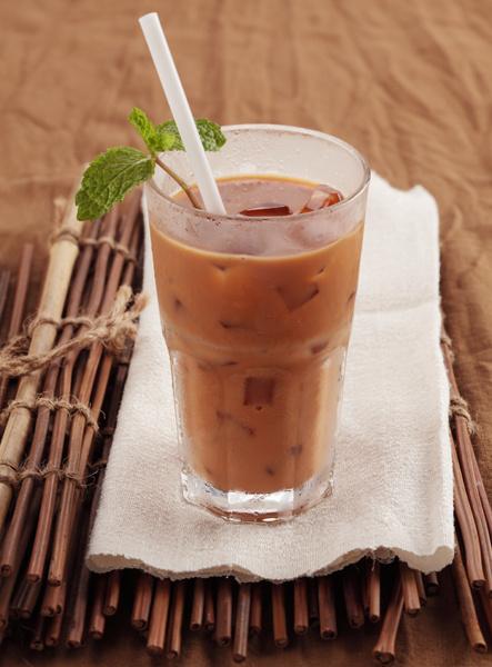 Холодный шоколадный чай